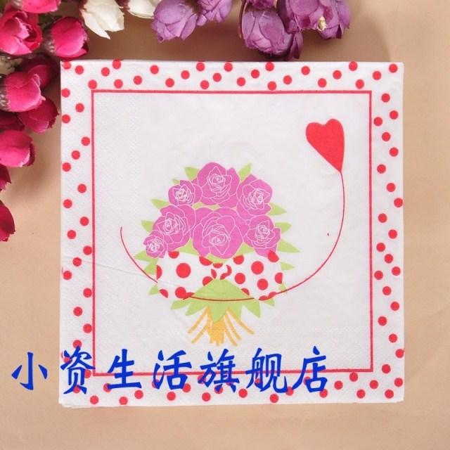Multicolour table napkin paper printed paper towel colorful paper napkin party serviette (10 packs=200pcs)(Hong Kong)