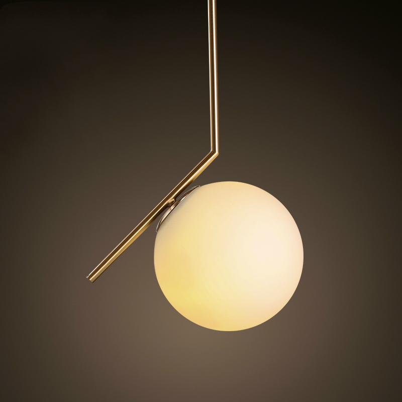 Hot Sale Simple postmodern style pendant lamp glass ball lamp lampen pendant light deco lampe modern lights nordic lighting(China (Mainland))