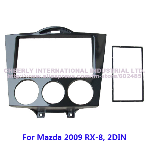 2 Din Car Radio Frame,Installation Kits,Facia Plate,DVD Panel Kit,Stereo Install Frame,Fascia Mazda RX-8, Double - Cheerly International Industrial Ltd. store