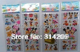 40 sheets/lot, (7.5*21cm) Mixed Kids Cute Stickers/ Children Stationery Fashion Decoration Stickers/Kids DIY Toy