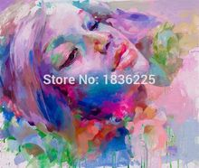 Colorful Oil Painting Famous Painter Abstract Women Modern Woman Portrait Face Of Beautiful