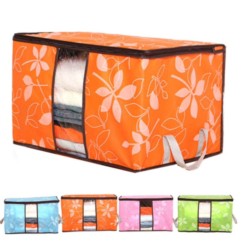 Гаджет  Newest 60*40*35cm Foldable  Flower Printed Quilt  Sorting Anti-bacterial Clothing Organizer Storage Box 1pcs Quality First None Дом и Сад