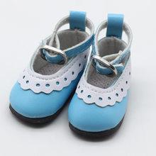 5cm PU cuero muñeca princesa zapatos para muñecas BJD, encaje lona Mini juguete Shoes1/6 Bjd Snickers para accesorios de muñecas rusas(China)