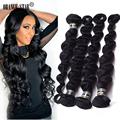 Virgin Brazilian Loose Wave 4 Bundles Hair Extensions 7A Unprocessed Tissage Bresilienne Virgin Human Hair Weft