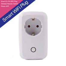 EU Plug Socket Power GSM Smart Switch Cellphone Wifi Plug APP Home Automation Smart Wireless Remote Intelligent Power Socket