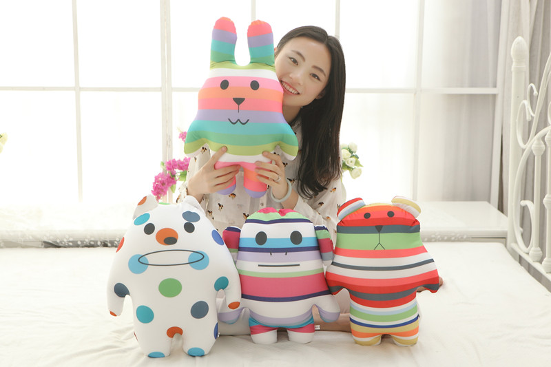 MDH Cartoon Bear Cute Bunny rainbow foam particle plush toy pillow Children's Day gift(China (Mainland))