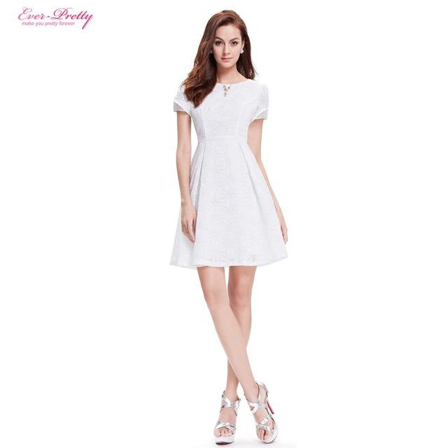 Когда-либо Довольно Homecoming Платья AP05323WH Милые Мода Белый Шею С Коротким Рукавом ...