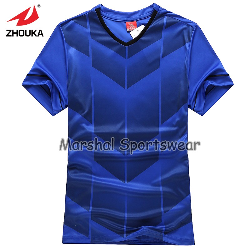 2016 newest design in top quality,football jersey,kids size,in stock item,royal blue(China (Mainland))
