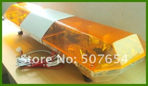 High quality DC12V/24V,120W,120cm Amber warning lightbar(8pcs halogen rotate lamp+2pcs alley lamp,waterproof IP64)