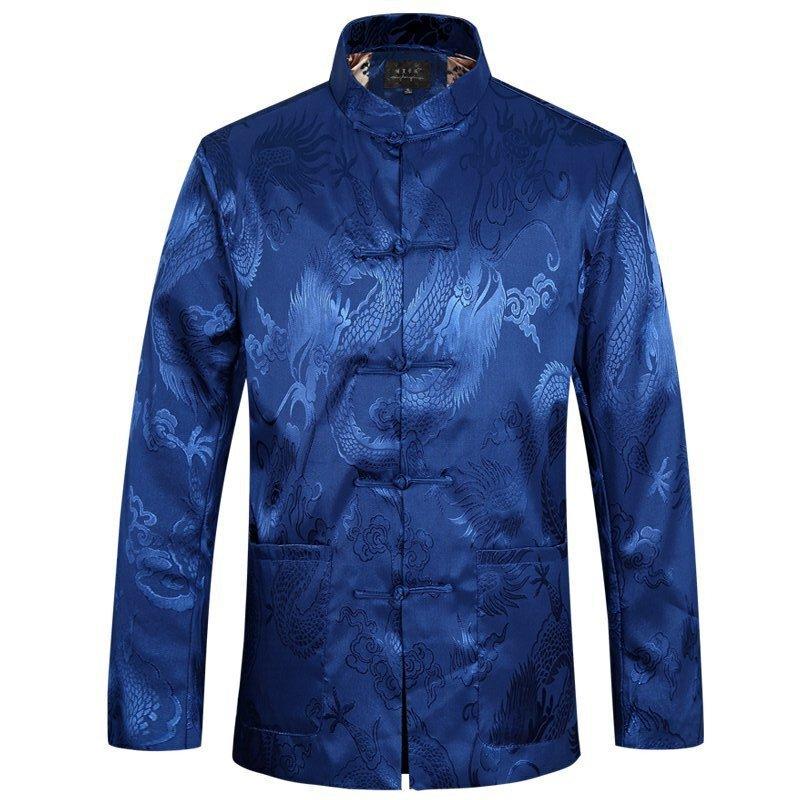 Dragon Jacket Men Summer Long Sleeve Chinese Jackets Plus