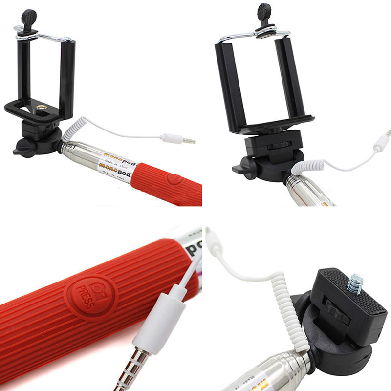 image for Handheld Wired Selfie Stick Accessory For IPhone Extendable Monopod Se