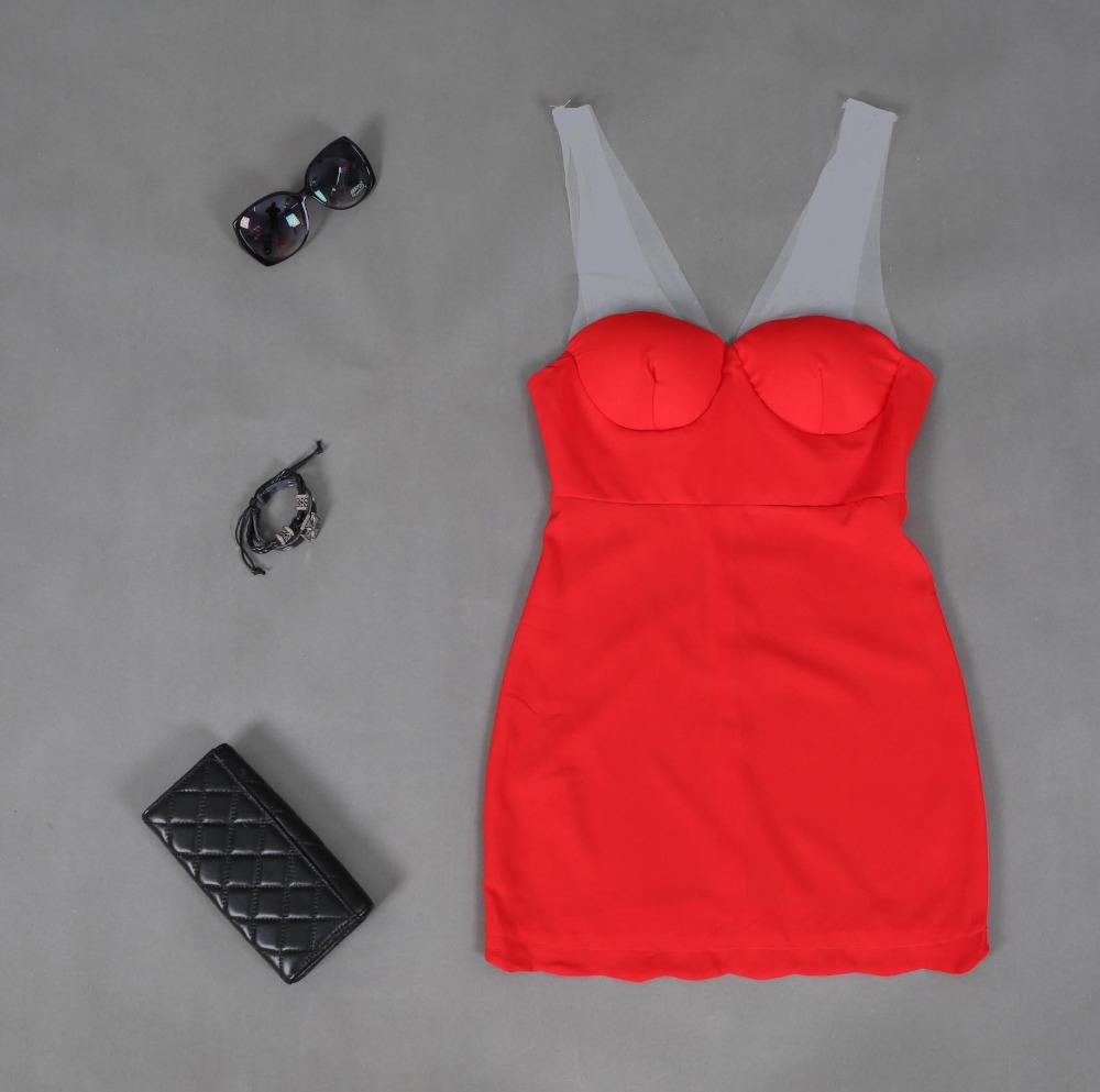 2015 New Ladies Dress Slash Neck Strapless Sexy Red Dresses Women Summer Slim Bodycon Work Dress vintage Mini vestido de festa(China (Mainland))