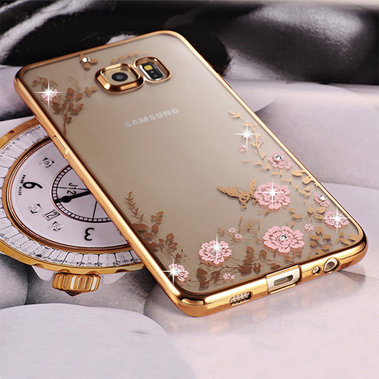 Bling Diamond Clear Case for Pouch Samsung Galaxy S7 Edge Case Silicone Cover for Samsung S7 Edge Case Luxury TPU S7edge Cover(China (Mainland))