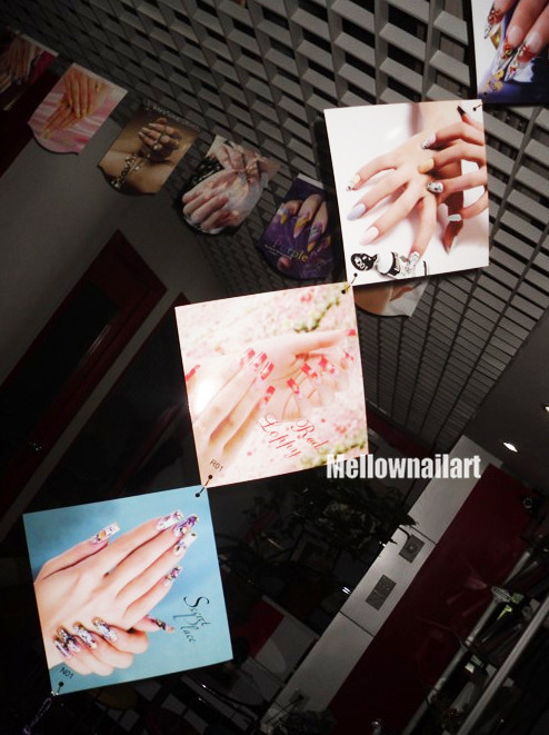 Nail Art Salon Display Poster Decoration Nail Tips Double Side Print Picture VERTICAL(China (Mainland))
