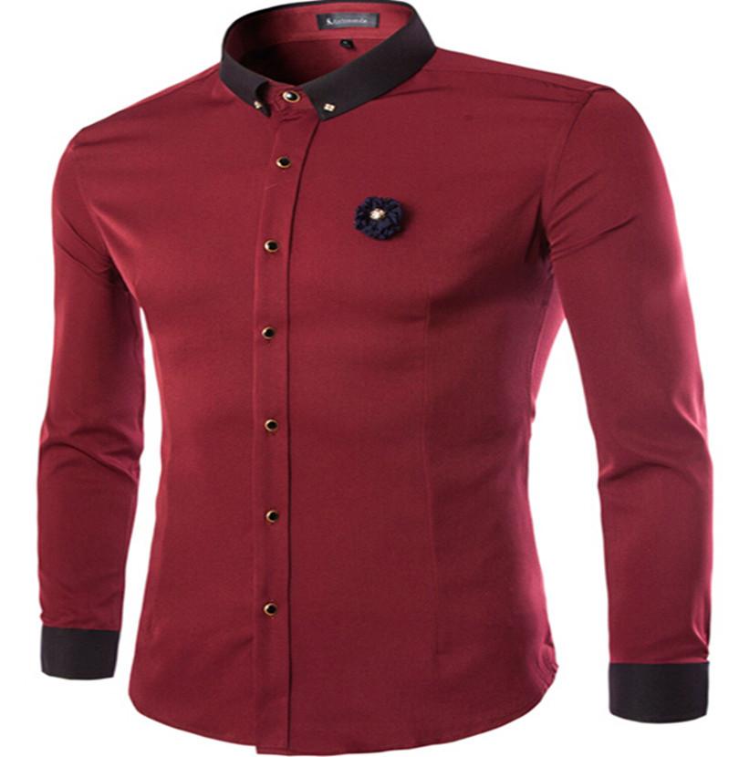 2015 new arrival mens dress shirts european american style for European mens dress shirts