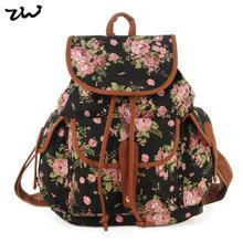 ZIWI Brand New Arrival Ladies Anna Smith Retro Canvas Backpack Rucksack Girls School Knapsack QQ1626-1(China (Mainland))