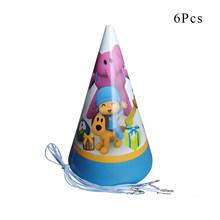 Pocoyo Elly pato Loula Festa Temática Decoração de Mesa Prato Copo de Papel Guardanapos Baby Shower Balão Fontes Do Partido de Aniversário Dos Miúdos(China)