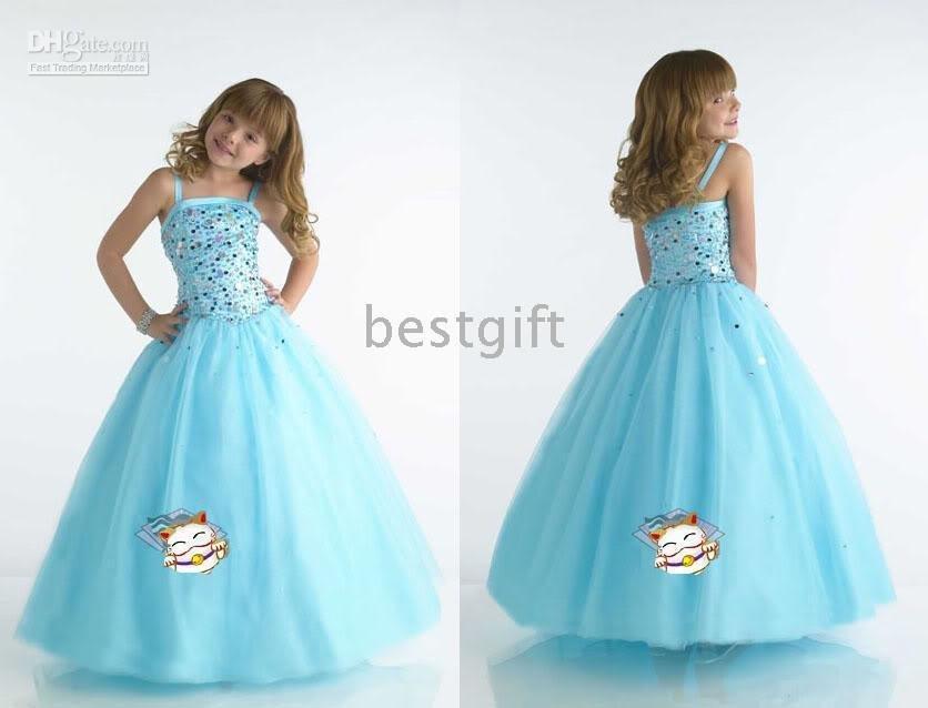Girls Blue Party Dresses - Ocodea.com