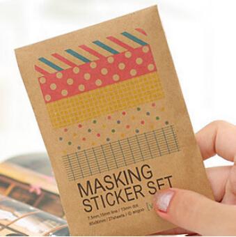 Гаджет  27 sheets/bag DIY Cute Kawaii Paper Dot Sticker Vintage ULIKE Masking Sticker Set for Diary Album Scrapbooking Free shipping 546 None Офисные и Школьные принадлежности