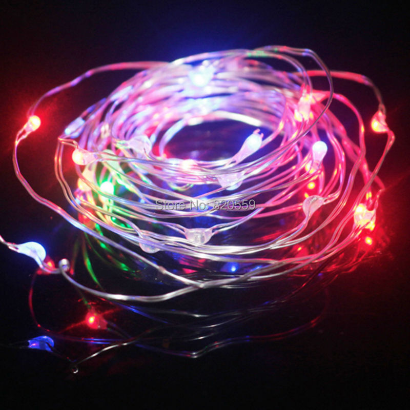 Гаджет  1Pc 2M 20led /3M 30led /4M 40led /5M 50led 4.5V Sliver/Copper Wire Waterproof LED String light Holiday Light Christmas Lights None Свет и освещение