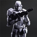 Play Arts Star War Imperial Stormtrooper Black Knight Darth Vader 26cm PVC Action Figure Doll Toys
