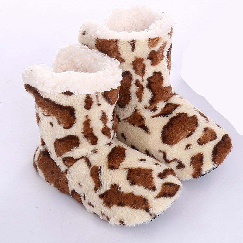 Amapo Indoor Boots 2016 New Winter Fashion Women Plush Home Cotton Cute Girls Pattern Adult Warm Soft Shoes US4-US11 TS12(China (Mainland))