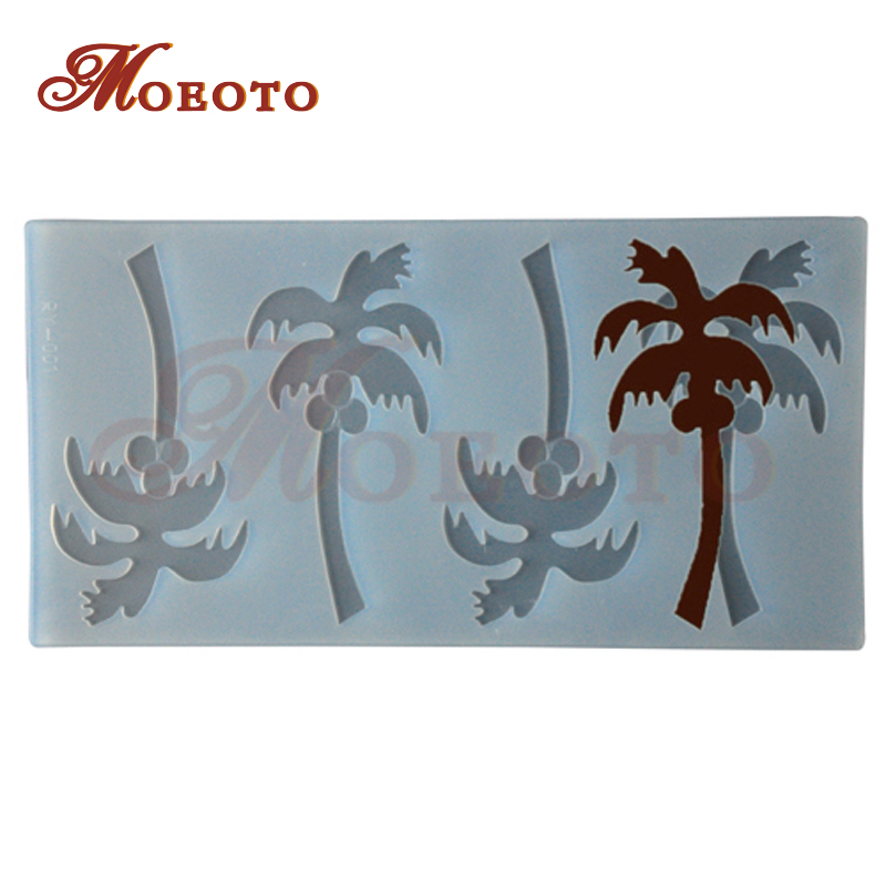 New RY-001 Diy Jelly Ice Cube, Silicone Chocolate Decorating Molds Mould, Baking Tools, Chocolate mold, 4 cavity coconut trees(China (Mainland))