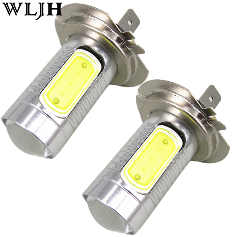 2pcs Xenon White High Power 7.5W H7 led Bulb COB Light Led Car Light Source High Low Beam Headlight Lamp Fog Driving DRL Light(China (Mainland))