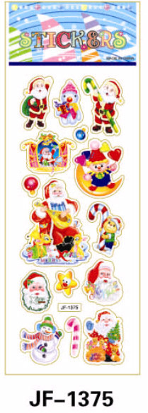 20 Sheets Combo Deal, Free shipping  TY0033 Santa Claus Stickers, Quality Vinyl Plastic Stickers, Jolly Christmas