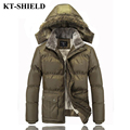 New Jackets Men Winter Coats Thicken Cashmere Parkas Men Cotton Padded Jacket Outerwear Hooded Warm Fur