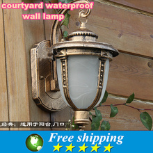 High quality,220 v outdoor patio waterproof wall lamp, corridor balcony decoration lighting lamps and lanterns,17.5*23*32Cm(China (Mainland))