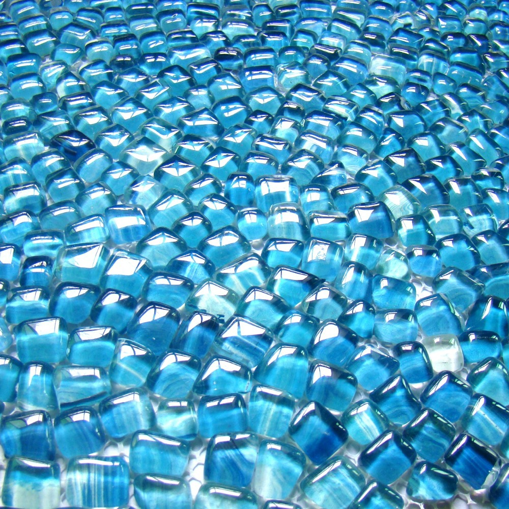 irregular shape blue color glass mosaic tiles ehgm1005i