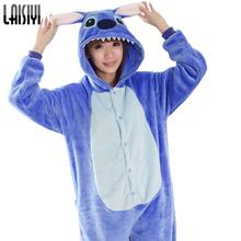 lilo and stitch onesie Unisex onesies Unisex Adult warm fleece pajamas for women pajama set warm animal pajamas one piece femme(China (Mainland))