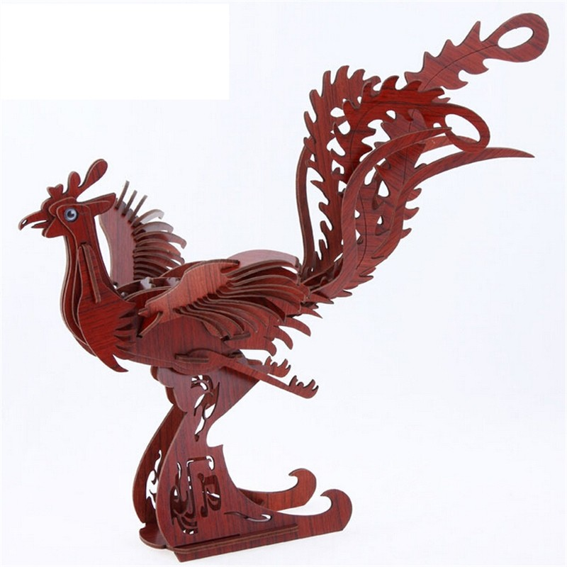3D Puzzles Jigsaw Toys Chinese Dragon Model Wooden Kids Children Early Education Crafts Learning Animal Homen Decor(China (Mainland))