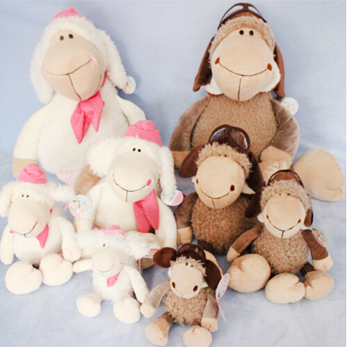 NEW 1pieces/lot plush 20cm nici sheep classic pilot doll toy Gifts for children birthday present(China (Mainland))