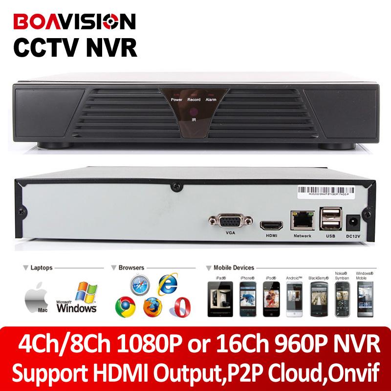 4Ch 8Ch 1080P 1U CCTV ONVIF NVR 16Ch 960P HDMI Output Network Recorder P2P Cloud IOS Android View XMEye IP Camera - Shenzhen Boavision Technology Co.,LTD store