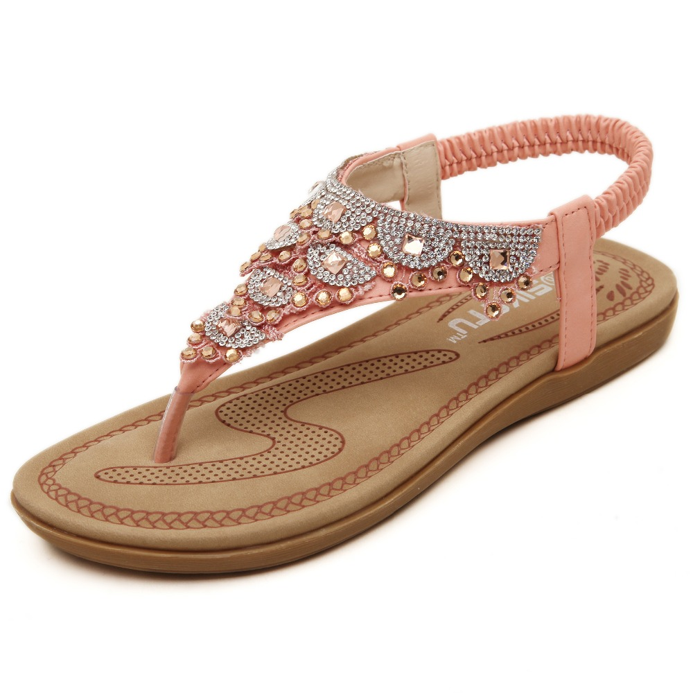 Hot sale new women flats sandals summer shoes women ...