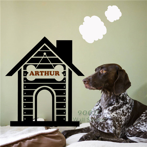 Diy Dog Wall Decor : Personalized dog house wall stickers decals diy home