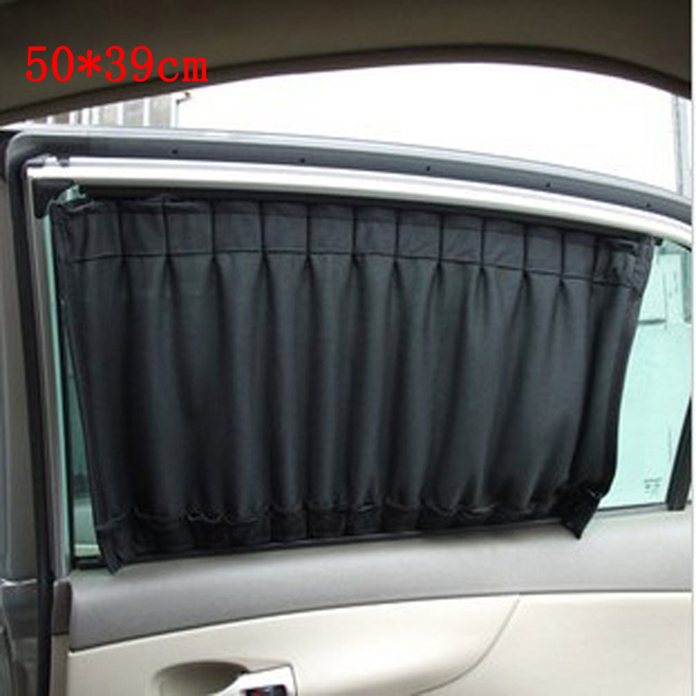 2pcs 50 39cm universal car sun shade car window sunshade uv proof side window sun shield auto. Black Bedroom Furniture Sets. Home Design Ideas