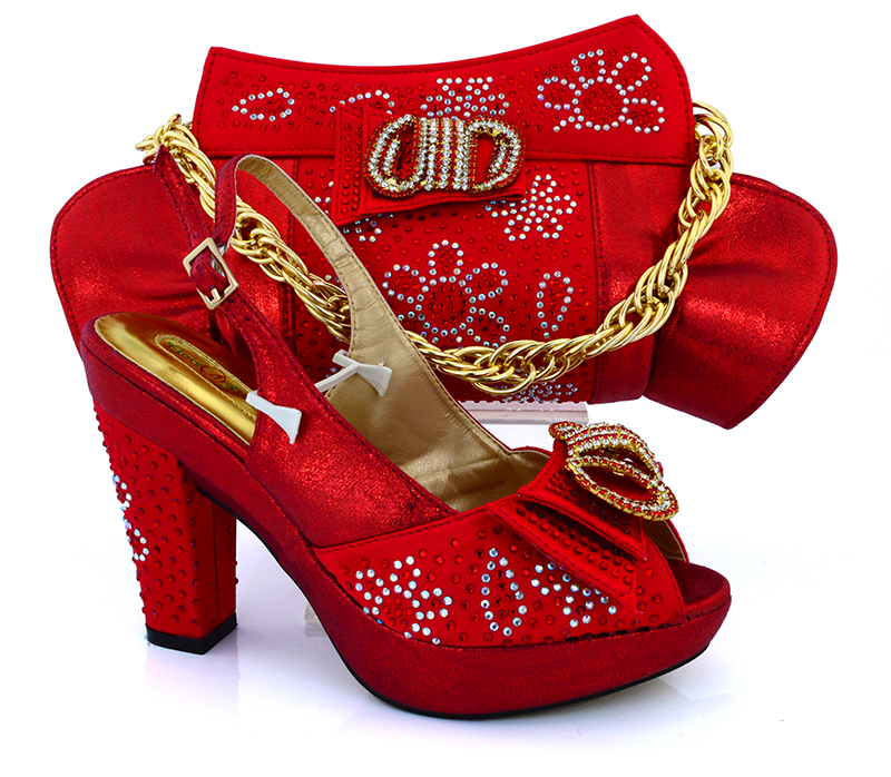 Aliexpress Buy Red African Wedding Shoes And Bags Matching Set Italian Matching Shoes And
