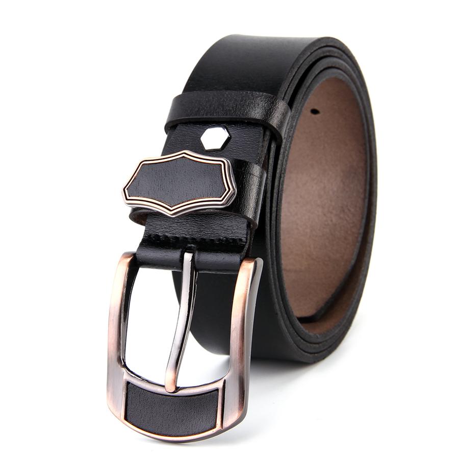 RUBU Designer Belts Men Mens Cow Genuine Leather Man Belt Luxury Strap Male Belts For Men New Fashion Vintage Pin Buckle 2017(China (Mainland))