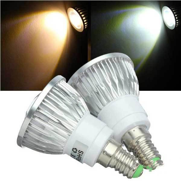 Dothan Dimmable E14 LED Bulbs 3W COB 110V Warm White White Spot Light(China (Mainland))