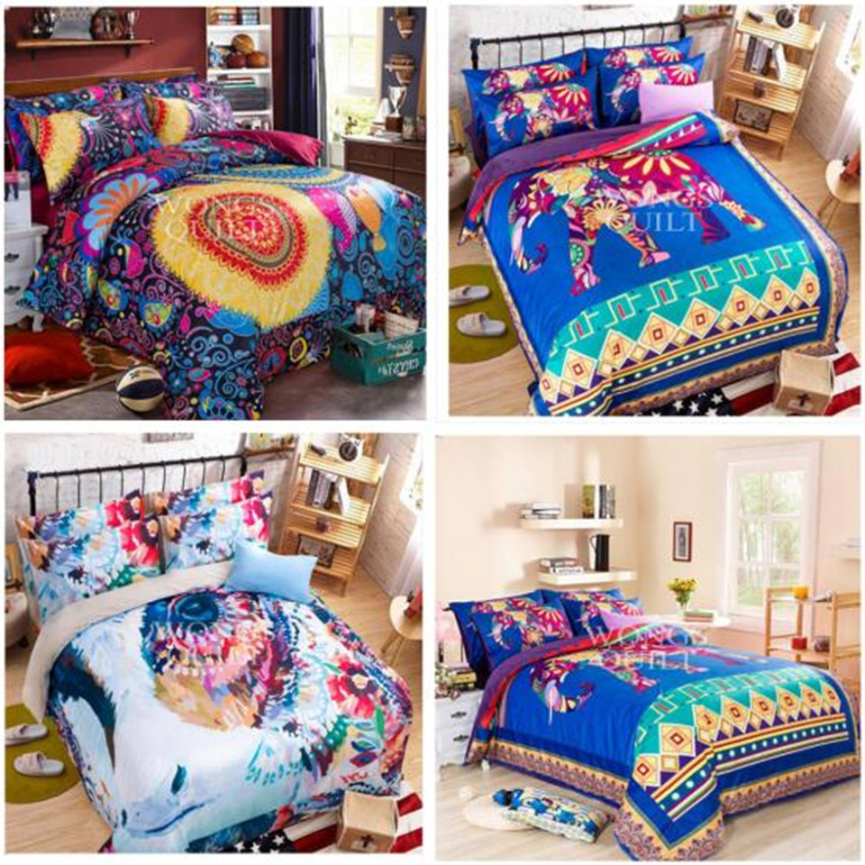 High Quality Bedclothes 3D 4PCS Bedding Set King/Queen 1 PC Bed sheet/1PC Comforter Cover/2 PCS Pillow Covers(China (Mainland))