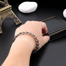 Classic Men's Cool Titanium Steel Bracelet Link Chain Wristband Bangle Hot Quality(China (Mainland))