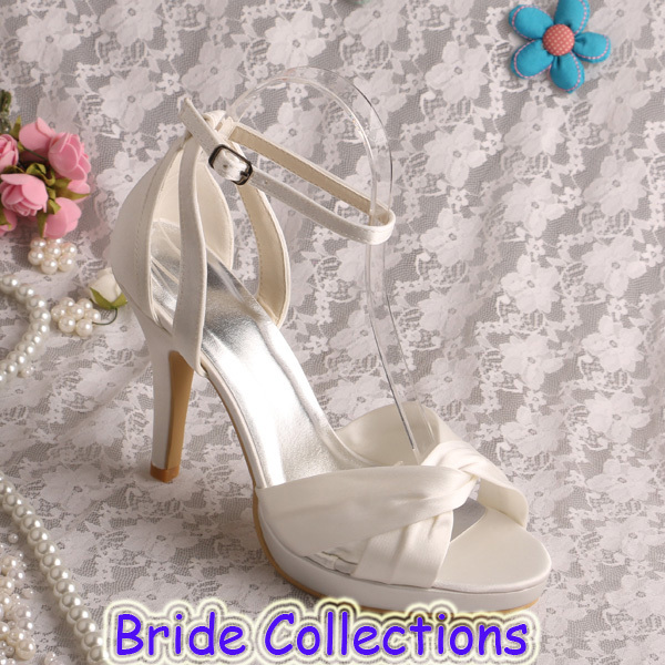 Name Brand Ladies Ivory Sandals for Wedding Summer Shoes High Heeled Dropshipping<br><br>Aliexpress