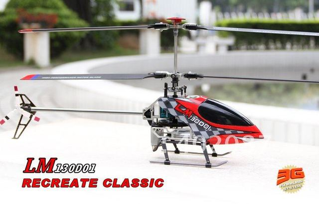 walkera LM130D01 Metal 3-Axis RC Helicopter 2.4G WK2403