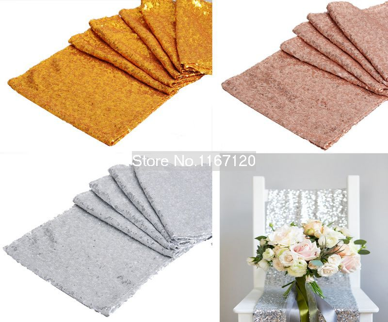 30*275cm Sparkly Sequin Table Runner Wedding Party Table wedding Decoration Tablecloth chemin de table wedding decorations decor