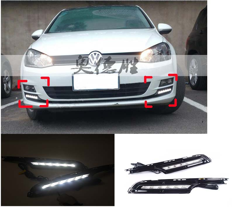 Фотография For Volkswagen golf 7 led light LED Daytime Running Lights DRL Kit 6LED