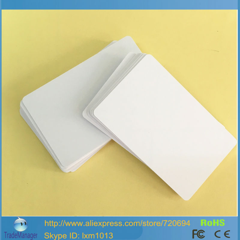 10PCS/LOT Contactless Smart RFID IC PVC Card # S50 13.56Mhz Rewritable NFC Cards By Zebra P330I / Fargo HDP5000 Card Printer(China (Mainland))