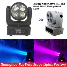 Buy 2Pcs/Lot High Quality 4x20W Led Beam Wash Moving Head Light 9/16 Chs RGBW 4IN1 DJ Disco Star Shower DMX Stage Lighting Effect for $292.00 in AliExpress store